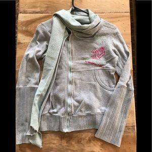 Diesel Sweatshirt w/ Attached Scarf